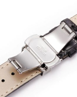 Maleny Leather Watch Strap Showing Closed Clasp