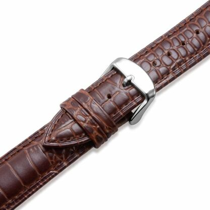 Alligator Pattern Brown Leather Band