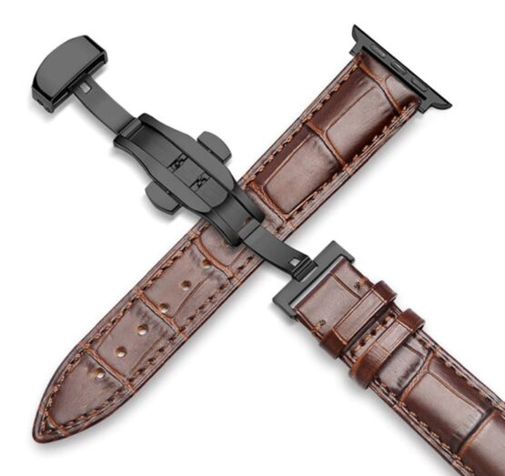 Leather applei watch strap