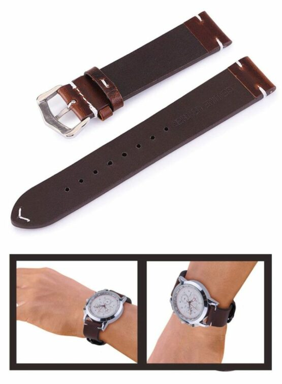 Brown Soft Calf Leather Strap