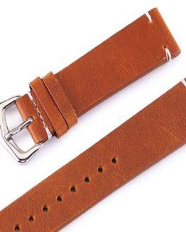 Genuine Calf Leather Tan Watch Band