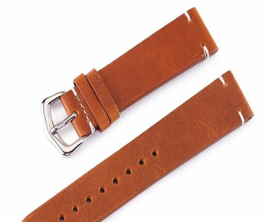 Genuine Calf Leather Tan Watch Band