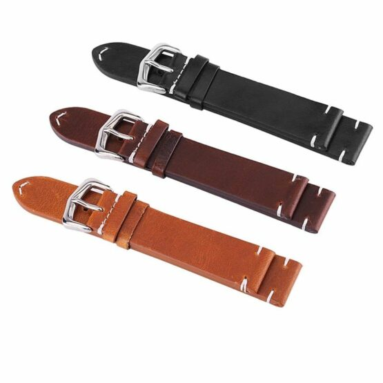 Calf Leather band showing available colours