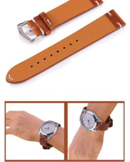 Genuine Calf Leather Tan Watch Strap