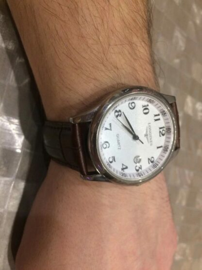 Montville Leather Strap on Longines Watch