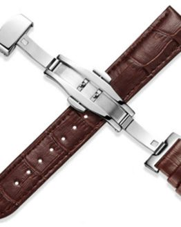 Montville Brown Leather Strap