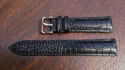 croc-alligator pattern leather watch strap for sale in australia