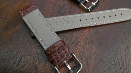 crocodile alligator pattern rear of watch strap