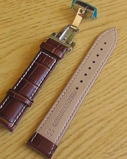 leather watch strap white stitching