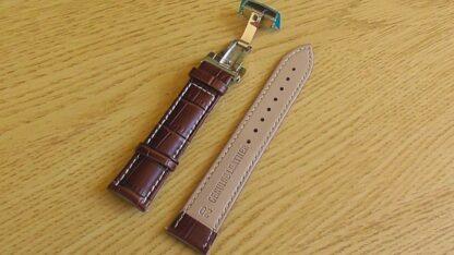 leather watch strap white stitching