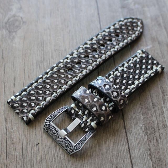 Snakeskin Leather Watch Strap