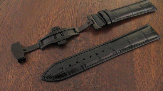 maleny black leather black clasp strap