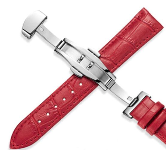 Maleny Red Leather Watch Strap