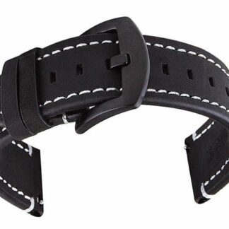 mapleton black leather watch strap quick release