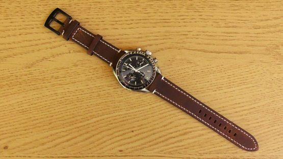 mapleton leather watch strap omega speedmaster moon watch