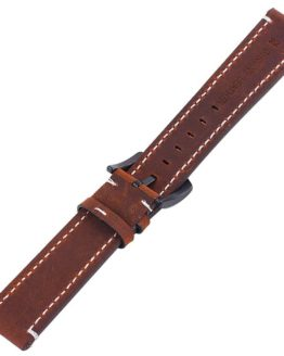 Mapleton brown leather watch strap