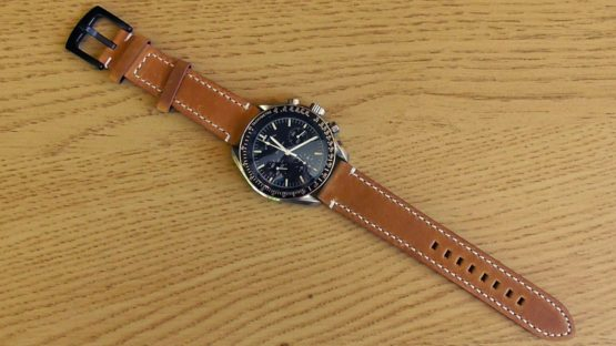 leather watch strap light brown with omega speedmaster