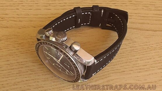 Quick release leather strap omega speedmaster watch