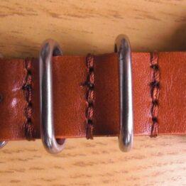 nato strap stitching closeup