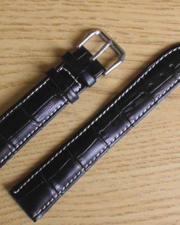 birtinta black leather white stitching watch strap australia