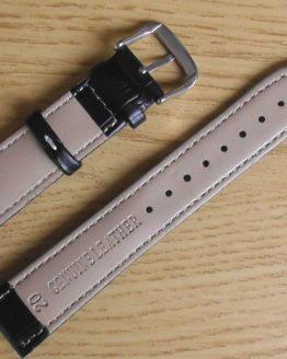 birtinya black with white stitching leather watch strap australian stock