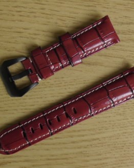 Yandina red leather watch strap australia
