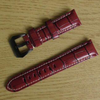 Yandina red leather watch strap australia