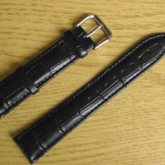 birtinya australia black leather watch strap