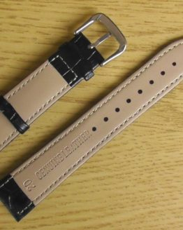birtinya black leather watch strap australia
