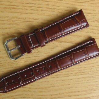 birtinya brown leather white stitching