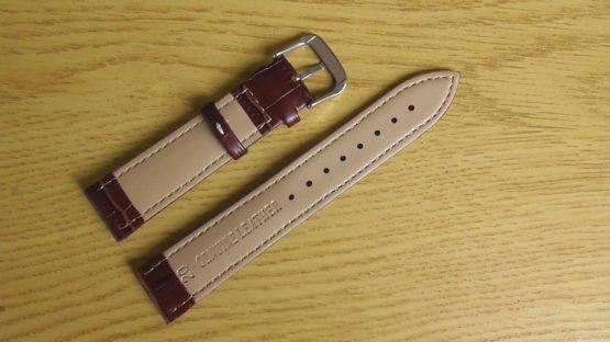 birtinya brown white stitching rear leather watch strap australia