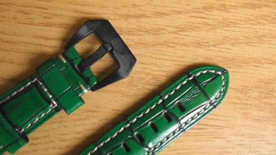 green leather watch strap australia