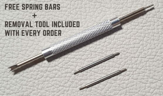 watch Spring Bars and Removal tool included with every order