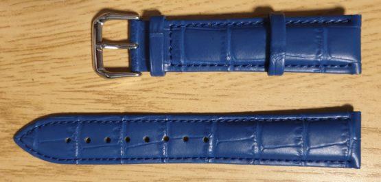 noosa australia blue leather watch strap front