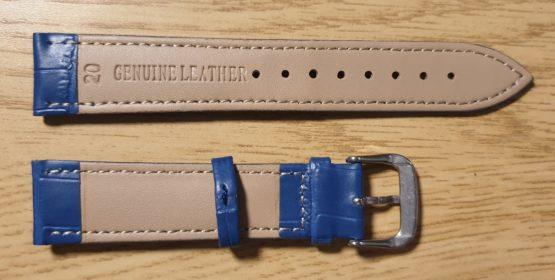 noosa blue leather watch strap rear