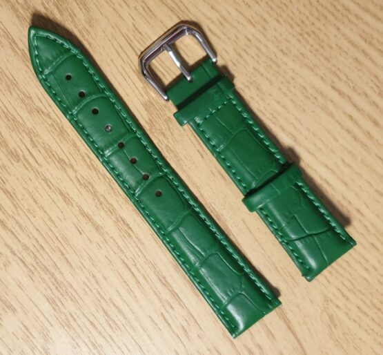 Noosa green leather watch strap