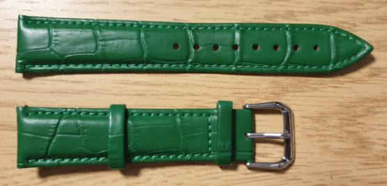 Noosa Australia green leather watch strap