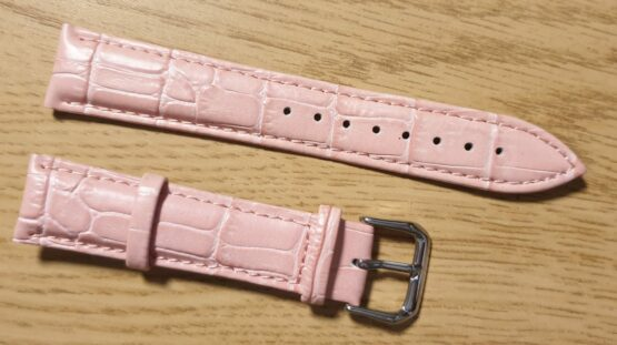 noosa australia leather watch strap pink front