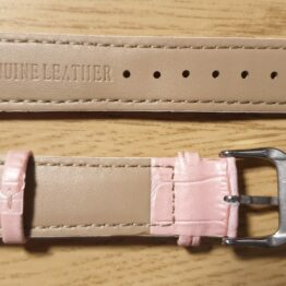Noosa pink leather watch strap front