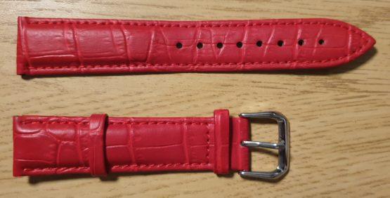noosa australia red leather watch strap