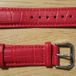 noosa australia red leather watch strap