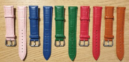 noosa leather watch straps showing all colours