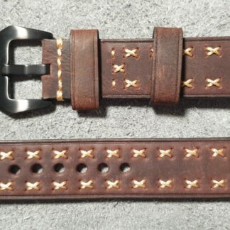 leather watch strap hand stitched