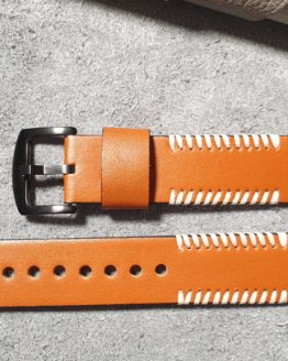 palmwoods tan leather watch strap