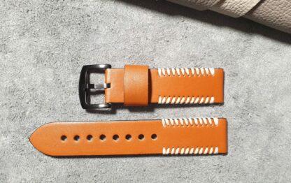 palmwoods tan leather watch strap