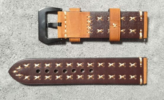 rear view winton leather strap tan leather