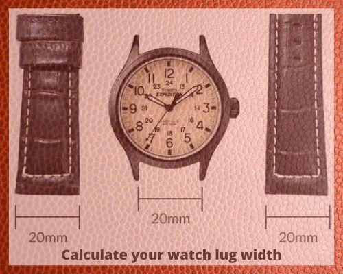 measure watch lug width size