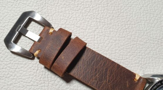 cooroy australia full grain leather watch strap silver buckle