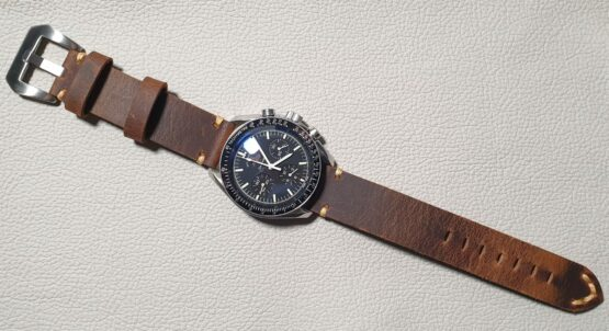 cooroy leather watch band on speedmaster moon watch