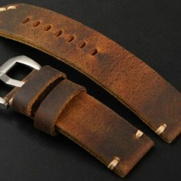 Cooroy Australia full grain leather watch strap
